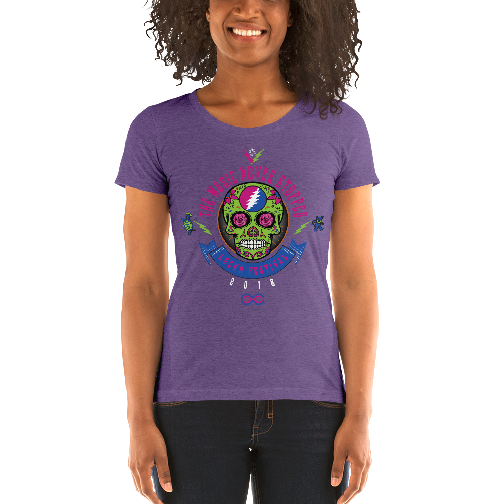 "2018 Lockn' Festival ""The Music Never Stopped"" Ladies' T-Shirt"