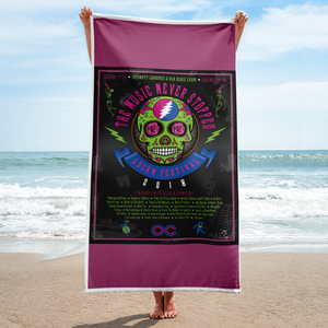 "2018 Lockn' Festival ""The Music Never Stopped"" Beach Towel"