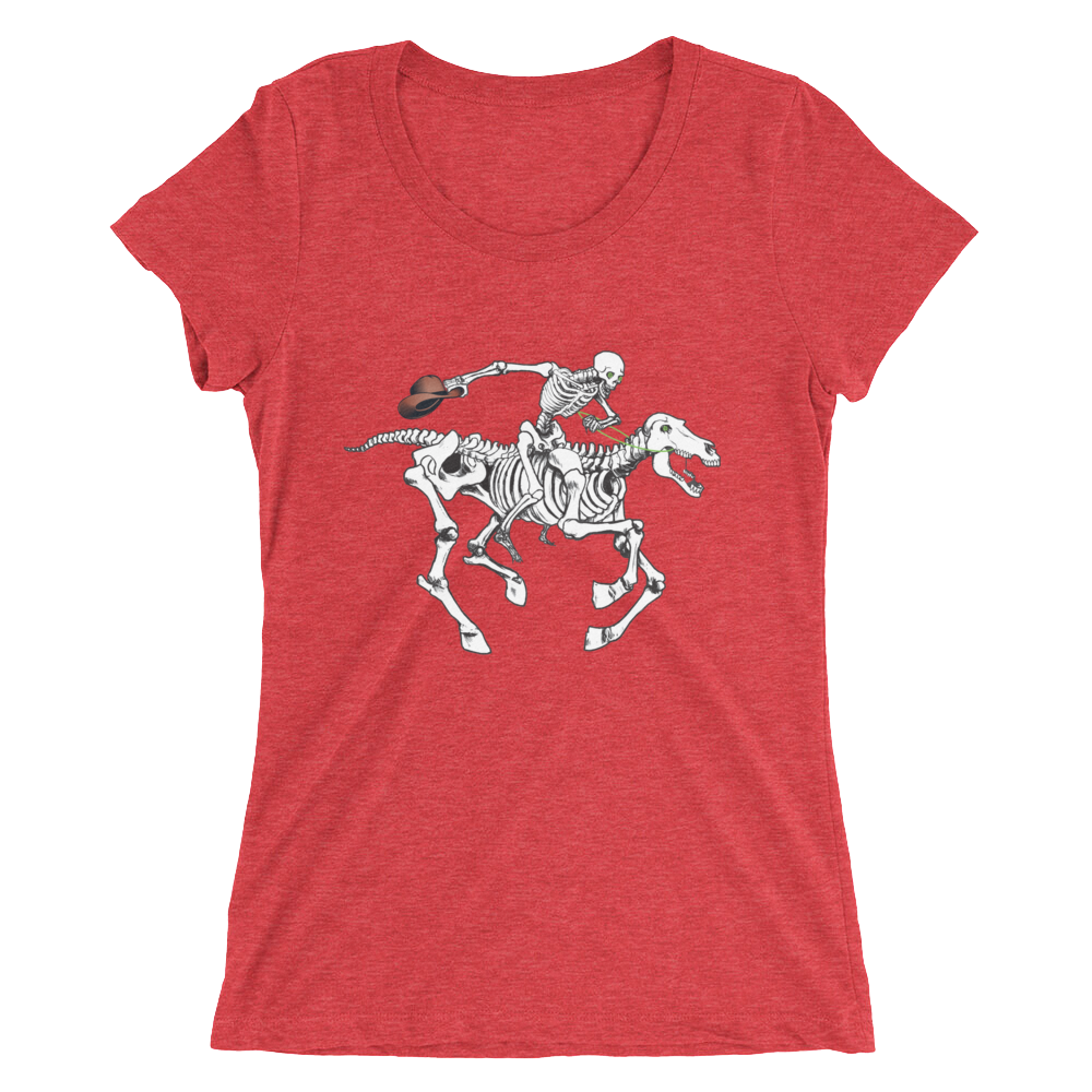 """Skully Rider"" Ladies' Triblend T-Shirt"