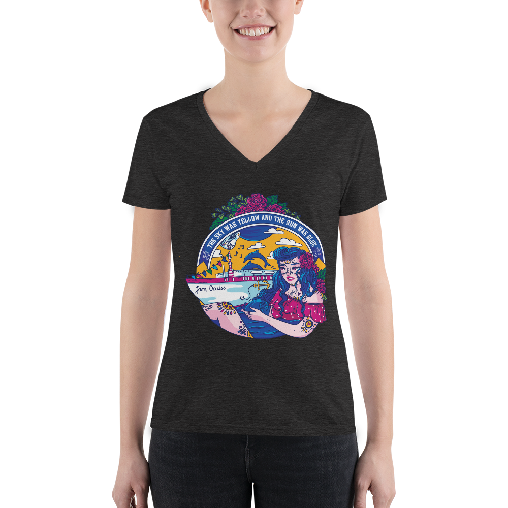 Jam Cruise Grateful Dead Ladies' Triblend V-Neck T-Shirt