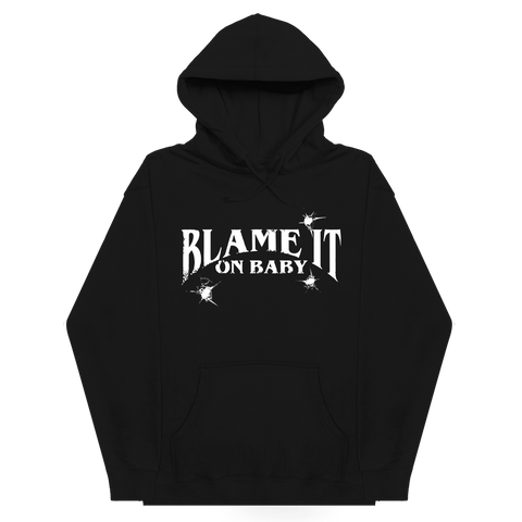 Blame It On Baby Black Logo Hoodie