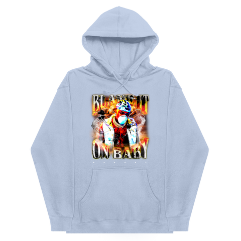 Blame It On Baby Light Blue Album Cover Hoodie