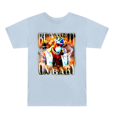 Blame It On Baby Light Blue Album Cover T-Shirt