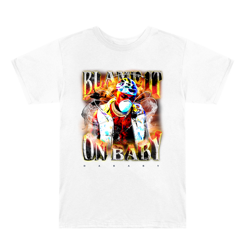 Blame It On Baby White Album Cover T-Shirt