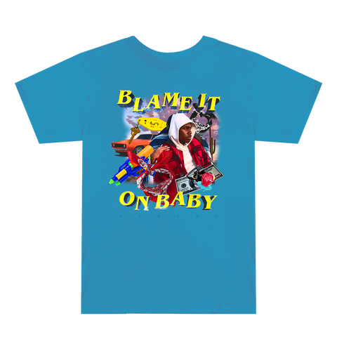 Blame It On Baby Blue Graphic T-Shirt