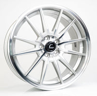R1 Silver Machined Face Wheel 19x8.5 +43mm 5x112