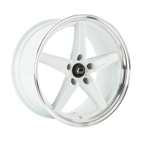 R5 White Wheel w/ Machined Lip 18x10.5 +22mm 5x120