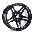 S5R Black Wheel 17x9 +22mm 5x114.3