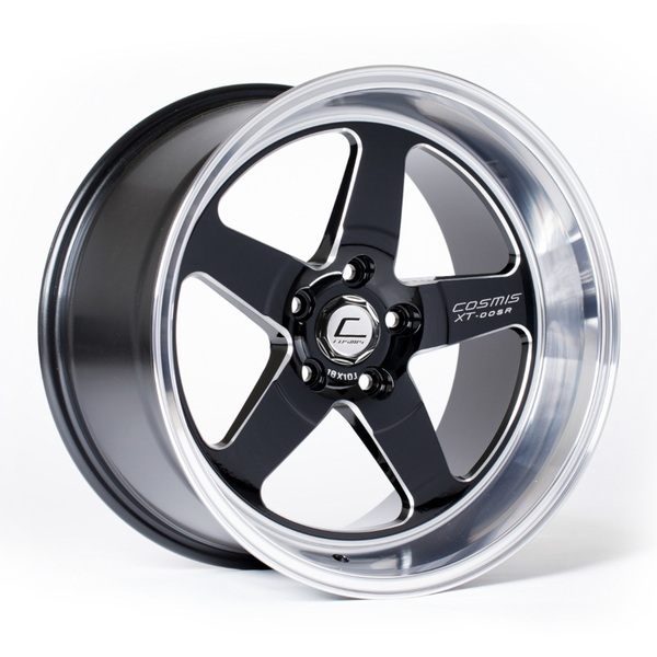 XT-005R Wheel Black w/ Machined Lip 18x9 +25mm 5x120