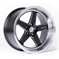 XT-005R Wheel Black w/ Machined Lip & Milled Spokes 18x9 +25mm 5x114.3