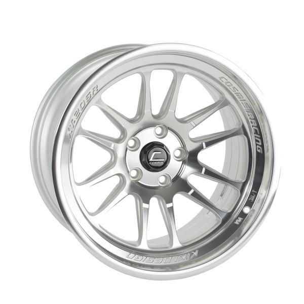 XT-206R Silver w/ Machined Face + Lip Wheel 18x11 8mm 5x114.3