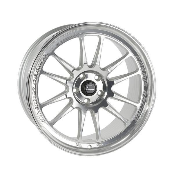 XT-206R Silver w/ Machined Face + Lip Wheel 18x9.5 +10mm 5x114.3