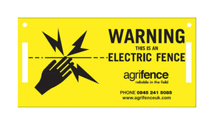 Agrifence Warning Signs (H4873)