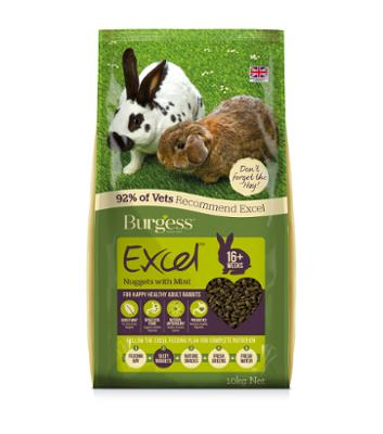 Burgess Excel Adult Rabbit Food Nuggets - Feeds2U