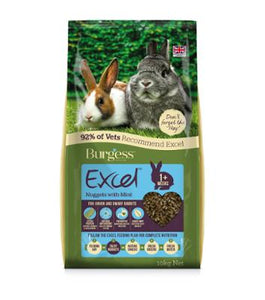 Burgess Junior & Dwarf Rabbit Food Excel Nuggets - Feeds2U