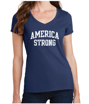 America Strong - Ladie's V-Neck