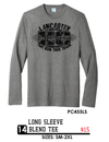 Long Sleeve Blend Tee  - PC455LS - grey
