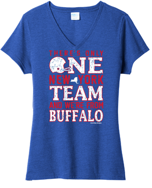 One Team - Women's V-Neck,  - Artdogtees