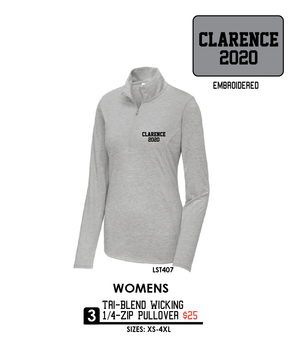 Ladies Tri-Blend Wicking 1/4-Zip Pullover - LST407