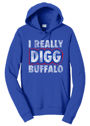I Really Digg Buffalo - Hoodie,  - Artdogtees