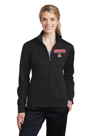 Legends Ladies Fleece Full-Zip Jacket (Black) [LST241],  - Artdogtees