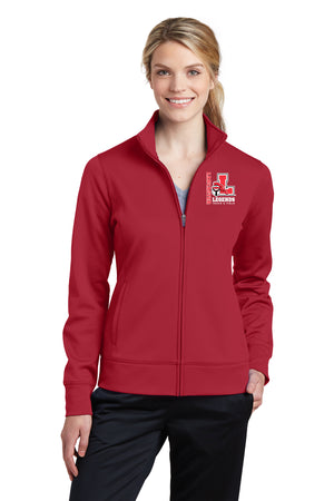 Legends Ladies Fleece Full-Zip Jacket (Red) [LST241],  - Artdogtees
