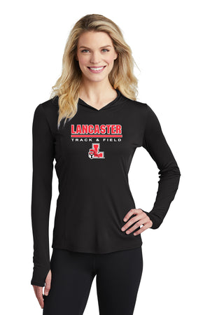 Legends Ladies Lightweight Competitor Hooded Pullover (Black) [LST358],  - Artdogtees