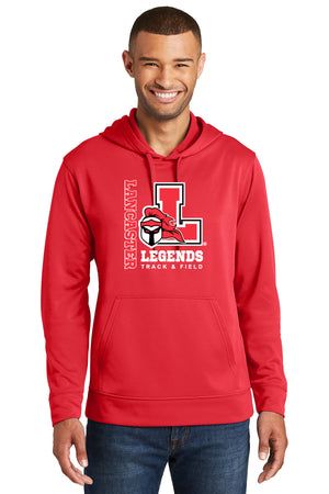 Legends Performance Fleece Hooded Sweatshirt (Red) [PC590H],  - Artdogtees