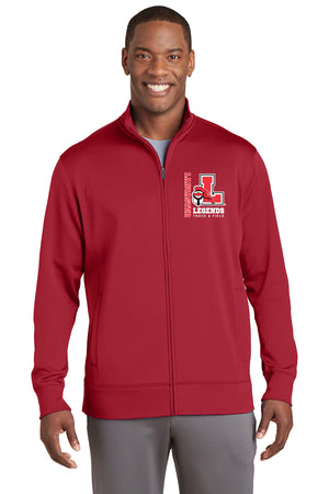 Legends Fleece Full-Zip Jacket (Red) [ST241],  - Artdogtees