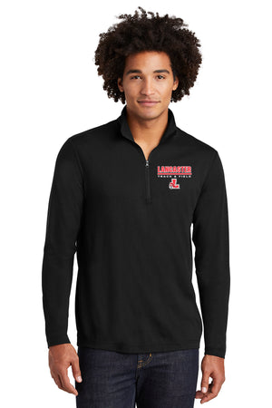 Legends Tri-Blend Wicking 1/4-Zip Pullover (Black) [ST407],  - Artdogtees