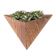 Load image into Gallery viewer, Walnut Wall Mount Geometric Plant Box (FREE SHIPPING)