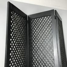 Load image into Gallery viewer, Black Wooden 3 Panel Room Divider (FREE SHIPPING)