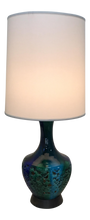 Load image into Gallery viewer, Blue & Green Ceramic Table Lamp (FREE SHIPPING)