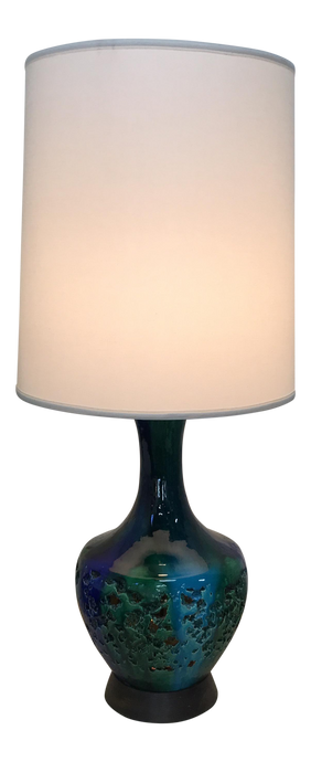 Blue & Green Ceramic Table Lamp (FREE SHIPPING)