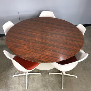 Burke Dining Set With Rosewood Tulip Table (FREE SHIPPING)