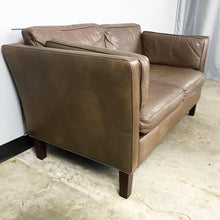 Load image into Gallery viewer, Danish Modern Leather Loveseat in the Style of Børge Mogensen (FREE SHIPPING)