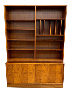 Danish Rosewood Credenza & Bookcase by Poul Hundevad (FREE SHIPPING)