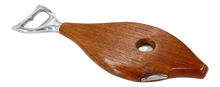 Load image into Gallery viewer, Danish Teak Fish Bottle Opener & Cigar Cutter (FREE SHIPPING)