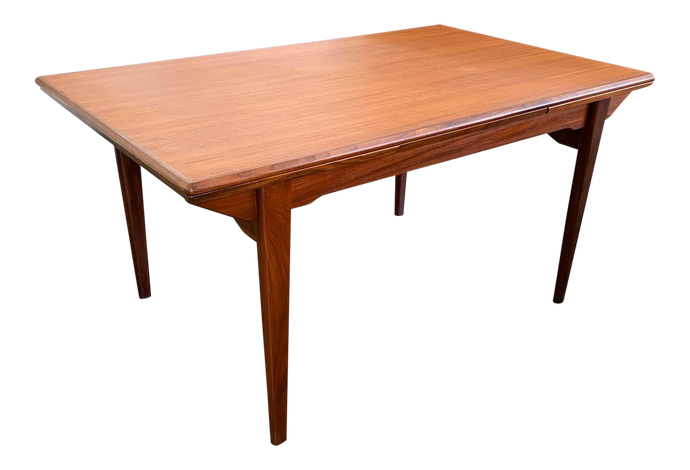 Expanding Danish Teak Dining Table
