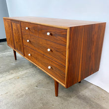 Load image into Gallery viewer, Fully Refinished Walnut Dresser & Matching Mirror Designed by Kipp Stewart for Drexel (FREE SHIPPING)