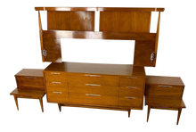 Load image into Gallery viewer, Kent Coffey Tableau Walnut Bedroom Set (FREE SHIPPING)