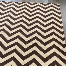 "Load image into Gallery viewer, Large Woven Zig Zag Area Rug 98"" X 130"" (FREE SHIPPING)"