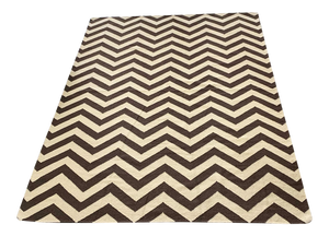 "Large Woven Zig Zag Area Rug 98"" X 130"" (FREE SHIPPING)"