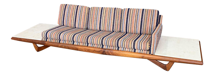 Long Platform Sofa Designed by Adrian Pearsall for Craft Associates (FREE SHIPPING)