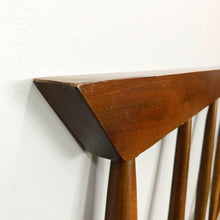 Load image into Gallery viewer, Mid Century Modern Full Size Walnut Headboard (FREE SHIPPING)