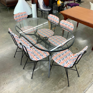 Mid Century Modern Iron Patio Dining Set (FREE SHIPPING)