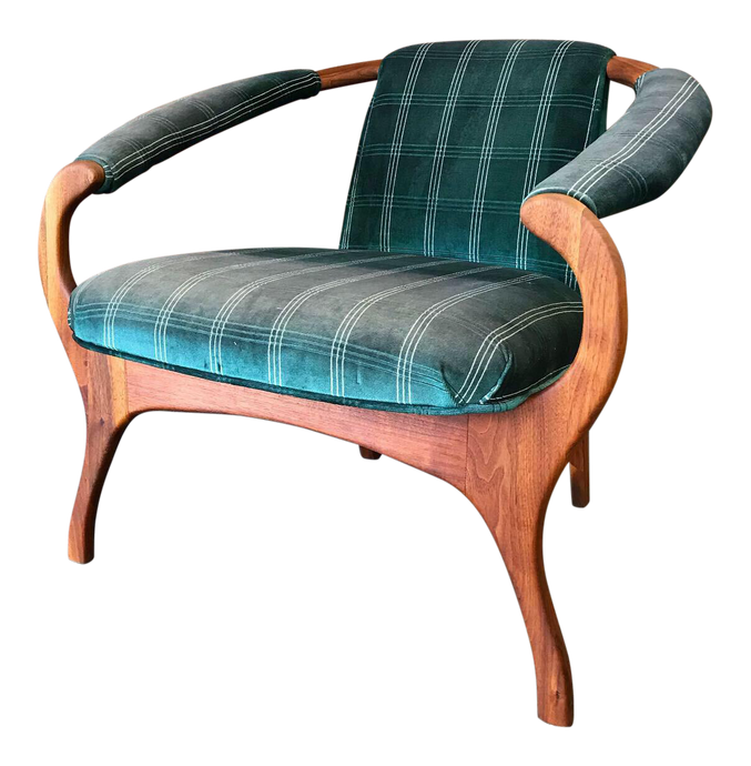 Modern Sculptural Lounge Chair Attributed to Adrian Pearsall (FREE SHIPPING)