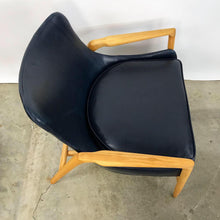 Load image into Gallery viewer, Newly Upholstered Leather Easy Chair by Ib Kofod Larsen (FREE SHIPPING)