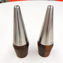 Load image into Gallery viewer, Pair of Danish Rosewood & Chrome Salt & Pepper Shakers (FREE SHIPPING)