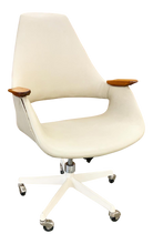 Load image into Gallery viewer, Rare Rolling Office Chair Designed by Arthur Umanoff (FREE SHIPPING)